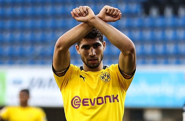 Prestation et but de Hakimi contre Paderborn