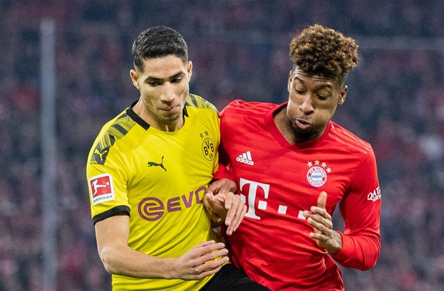 Achraf Hakimi attendu contre le Bayern