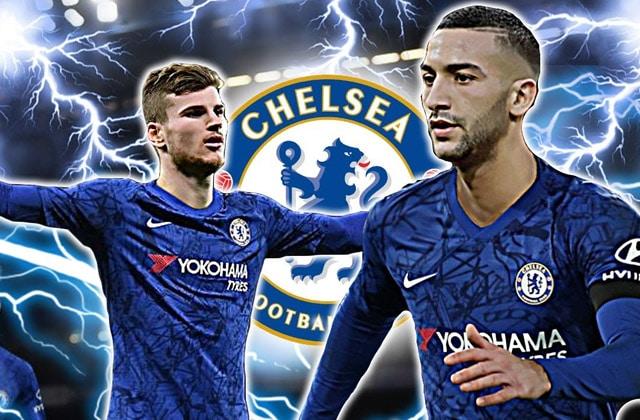 Werner et Ziyech ensemble à Chelsea