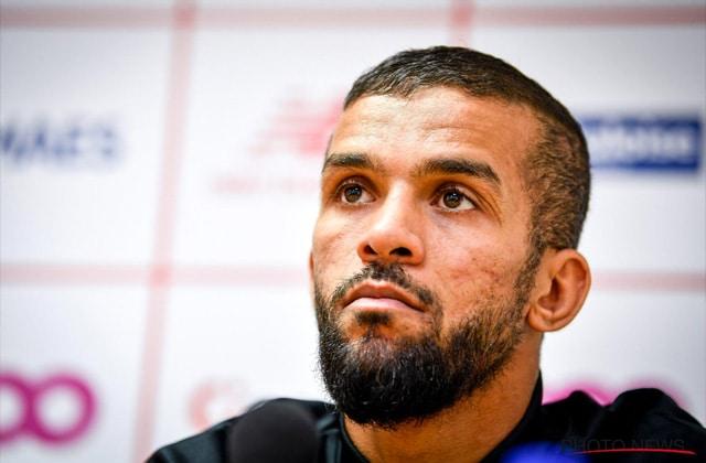 Mehdi Carcela en conférence de presse