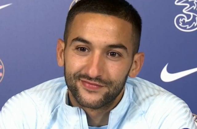 Hakim Ziyech en conférence de presse