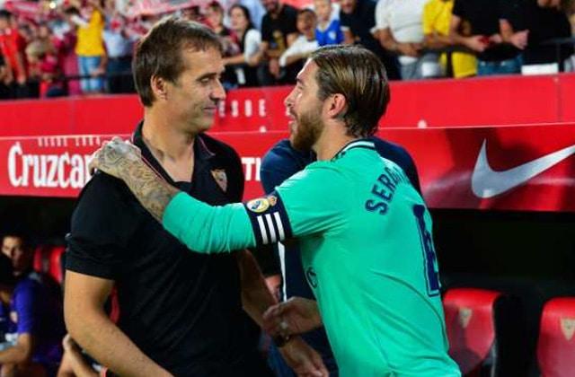 Sergio Ramos avec Julen Lopetegui